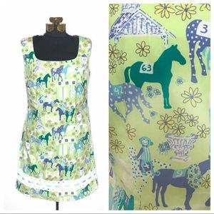Rare Lilly Pulitzer Low Riders Horse Dress P139